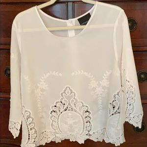 Cynthia Rowley Lace Cotton Blouse
